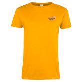 Ladies Gold T Shirt-Scottish Rite Mauve Floral