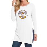 Ladies White Side Slit Tunic-Freemasons