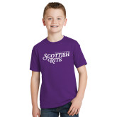 Youth Purple T Shirt-Scottish Rite