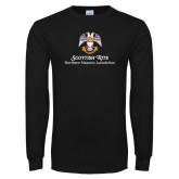 Black Long Sleeve T Shirt-Scottish Rite Lockup