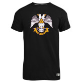 Russell Black Essential T Shirt-Freemasons