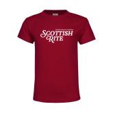 Youth Maroon T Shirt-Scottish Rite