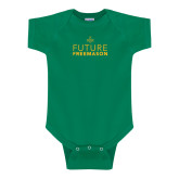 Kelly Green Infant Onesie-Future Freemason