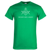Kelly Green T Shirt-Not Just A Man A Mason