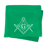 Kelly Green Sweatshirt Blanket-Square and Compass with G