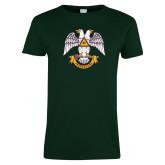 Ladies Dark Green T Shirt-Freemasons