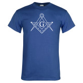 Royal T Shirt-Square and Compass with G