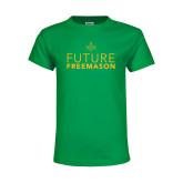 Youth Kelly Green T Shirt-Future Freemason