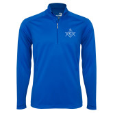 Syntrel Royal Blue Interlock 1/4 Zip-Square and Compass with G