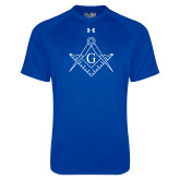 Under Armour Royal Tech Tee-Square and Compass with G