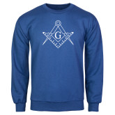 Royal Fleece Crew-Square and Compass with G
