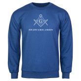 Royal Fleece Crew-Not Just A Man A Mason