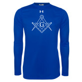 Under Armour Royal Long Sleeve Tech Tee-Square and Compass with G