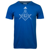 Adidas Climalite Royal Ultimate Performance Tee-Square and Compass with G