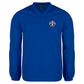 V Neck Royal Raglan Windshirt-Freemasons