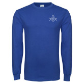 Royal Long Sleeve T Shirt-Square and Compass with G