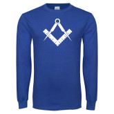 Royal Long Sleeve T Shirt-Square and Compass