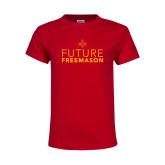 Youth Red T Shirt-Future Freemason