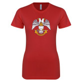 Next Level Ladies SoftStyle Junior Fitted Red Tee-Freemasons