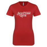 Next Level Ladies SoftStyle Junior Fitted Red Tee-Scottish Rite