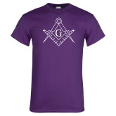 Purple T Shirt-Square and Compass with G