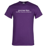 Purple T Shirt-Scottish Rite Wordmark