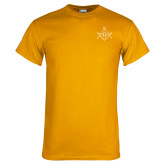 Gold T Shirt-Square and Compass with G