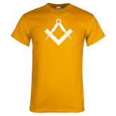 Gold T Shirt-Square and Compass