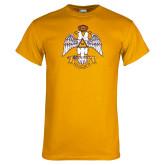Gold T Shirt-Deus Meumque Jus