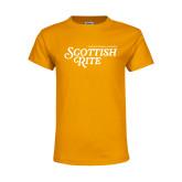 Youth Gold T Shirt-Scottish Rite