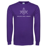Purple Long Sleeve T Shirt-Not Just A Man A Mason