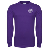 Purple Long Sleeve T Shirt-Spes Mea In Deo Est