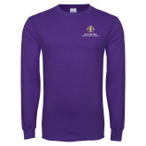 Purple Long Sleeve T Shirt-Scottish Rite Lockup