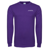 Purple Long Sleeve T Shirt-Scottish Rite Wordmark