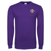 Purple Long Sleeve T Shirt-Deus Meumque Jus