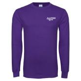 Purple Long Sleeve T Shirt-Scottish Rite