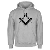 Grey Fleece Hoodie-Square and Compass