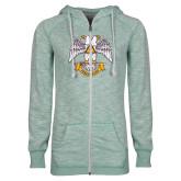 ENZA Ladies Seaglass Marled Full Zip Hoodie-Freemasons