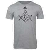 Adidas Sport Grey Logo T Shirt-Square and Compass with G