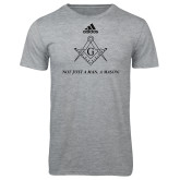 Adidas Sport Grey Logo T Shirt-Not Just A Man A Mason