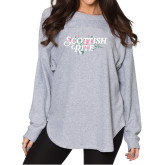 Ladies Grey Sherpa Slouch Jersey-Scottish Rite Pink Floral