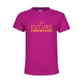 Youth Cyber Pink T Shirt-Future Freemason