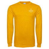 Gold Long Sleeve T Shirt-Square and Compass with G