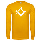 Gold Long Sleeve T Shirt-Square and Compass
