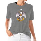 Ladies Under Armour Heather Grey Triblend Tee-Freemasons