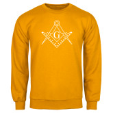 Gold Fleece Crew-Square and Compass with G
