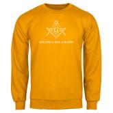 Gold Fleece Crew-Not Just A Man A Mason