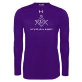 Under Armour Purple Long Sleeve Tech Tee-Not Just A Man A Mason