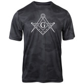 Charcoal Camohex Performance Tee-Square and Compass with G