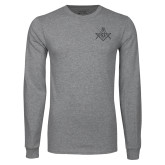 Grey Long Sleeve T Shirt-Square and Compass with G